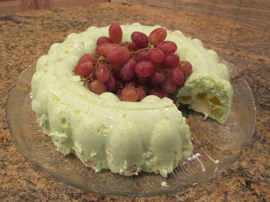 Green Lime Sour Cream Jello Mold